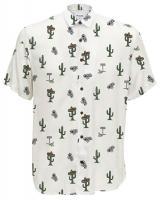 ONLY&SONS Pánská košile Sane Ss Aop Poplin Shirt White S