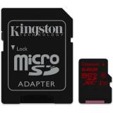 Paměťová karta Kingston MicroSDHC 64GB UHS-I U3