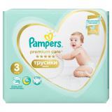 PAMPERS Premium Care Pants vel.3 Plenkové kalhotky 6-11kg  28 ks