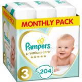 PAMPERS Premium Care vel. 3 Midi  - měsíční balení