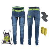 Pánské moto jeansy W-TEC Grandus modrá - 40