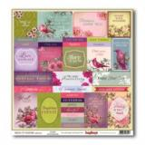 Papír 30,5x30,5 - Elegantly Festive - Reindeer Lustrous Lilac  90222