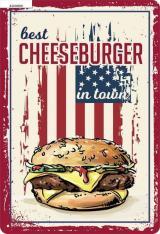 Postershop Plechová Cedule: Best Cheeseburger In Town