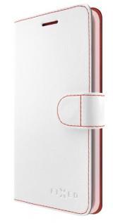 Pouzdro na mobil flipové FIXED FIT pro Apple iPhone XR bílé