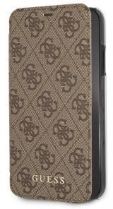 Pouzdro na mobil flipové Guess Charms Book Case 4G pro Apple iPhone XR hnědé