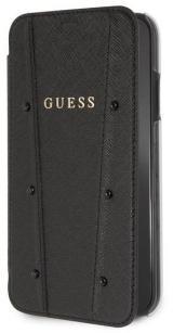 Pouzdro na mobil flipové Guess Kaia Book Case pro Apple iPhone XR černé