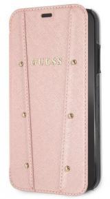 Pouzdro na mobil flipové Guess Kaia Book Case pro Apple iPhone XR růžové