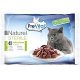 PreVital NATUREL dušené filetky sterilní losos v omáčce 4 × 85 g