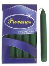 Provence Svíčka bistro 10 ks tmavě zelená, 2 x 17 cm