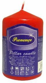 Provence Svíčka parafín válec červená, 5 x 8 cm