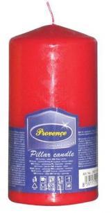 Provence Svíčka parafín válec červená, 6, 3 x 12, 5 cm