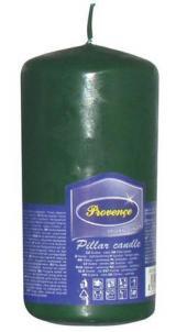 Provence Svíčka parafín válec tmavě zelená, 6, 3 x 12, 5 cm