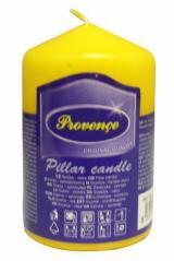 Provence Svíčka parafín válec žlutá, 5 x 8 cm
