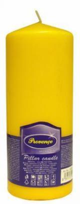 Provence Svíčka parafín válec žlutá, 6, 3 x 16 cm
