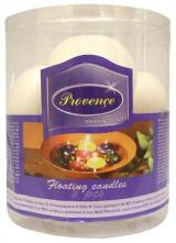Provence Svíčky plovoucí 8 ks bílá, 4, 3 x 2, 8 cm