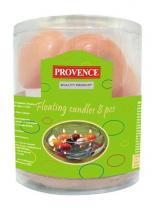 Provence Svíčky plovoucí 8 ks lososová, 4, 3 x 2, 8 cm