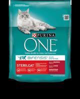 Purina ONE s hovězím pro kastrované kočky 3 kg