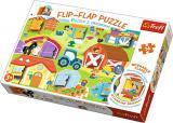Puzzle s otvíracími okénky 36dílků - Farma,Puzzle s otvíracími okénky 36dílků - Farma