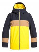 Quiksilver chlapecká bunda Sycamore youth 140 černá/žlutá