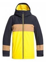 Quiksilver chlapecká bunda Sycamore youth 170 černá/žlutá