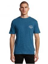 Quiksilver Pánské triko Energy Project Ss Majolica Blue Heather EQYZT05816-BSMH XL