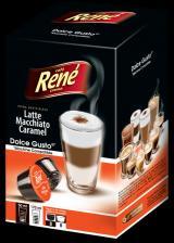 René Latte Macchiato Caramel Kapsle Pro Kávovary Dolce Gusto 16 Ks, 4 Balení