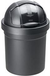 Rotho Odpadkový Koš Roll Bob 10 L, Černý