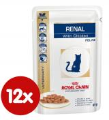 Royal Canin Veterinary Diet Cat Renal Chicken Pouch 12x85 g