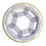 Sada 6 melaminových talířů Sunvibes Maillon Beige, Ø 25 cm