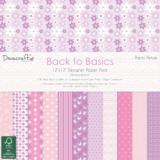 Sada papírů 30x30 - Back to Basics - Pretty Petals 12x12 Inch Paper Pack - Dovecraft  122118