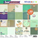 Sada papírů Artemio 30x30 - Sweet Memories 40pcs  63117