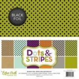 Sada papírů - Black Foil Dot 12x12 Inch Collection Kit  122102