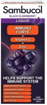 Sambucol Immuno Forte Sirup   vitamin C   zinek 120ml
