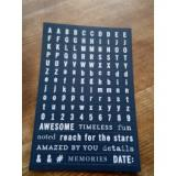 Samolepky - Abeceda, čísla a nápisy - Antracit s bílou  95209