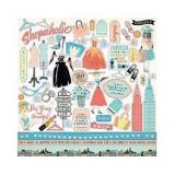 Samolepky - Metropolitan Girl 12x12 Inch Alpha Stickers  123046