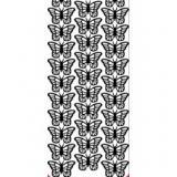 Samolepky s konturou 10x23 - Motýlci, stříbrná  356135