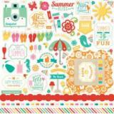 Samolepky - Summer Bliss 30,5x30,5cm  92657