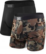 SAXX Sada pánských boxerek VIBE BOXER BRIEF 2PK black/wood camo S