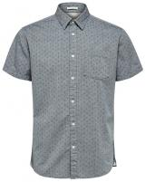 SELECTED HOMME Pánská košile Slimmatthew Shirt Ss Aop W Smoked Pearl XL