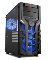 Sharkoon skříň DG7000-G RGB / Middle Tower / 2x USB3.0 / 2x USB2.0 / průhledná bočnice / 3x RGB LED / černá, 4044951021093