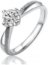 Silvego Stříbrný zásnubní prsten SHZR302 57 mm