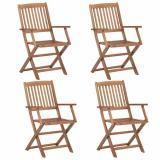 Skládací zahradní židle 4 ks akáciové dřevo Dekorhome
