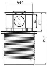 Solight Výsuvný blok zásuvek, 3 z., 2× USB, kruhový tvar nízký, 1,5 m PP100USB-B, černý - zánovní