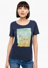 s.Oliver dámské tričko 14.006.32.5222 44 tmavě modrá