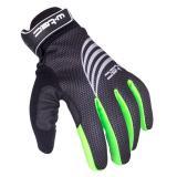 Sportovní zimní rukavice W-TEC Grutch AMC-1040-17 černo-zelená - M
