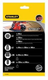 Stanley Sada Brusných Papírů Pro B D Multibrusku
