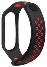 Tactical 281 Double silikonový řemínek pro Xiaomi Mi Band 3/4 2447638, černý / červený