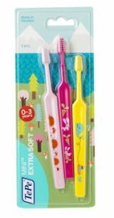 TePe Mini Compact x-soft zubní kartáčky 2 1 zdarma,TePe Mini Compact x-soft zubní kartáčky 2 1 zdarma