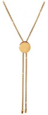 Troli Nastavitelný náhrdelník s kolečkem z pozlacené oceli