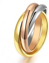 Troli Ocelový tricolor prsten KRS-247